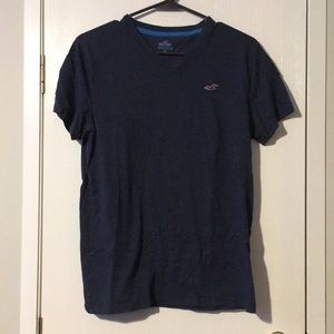Men's dark blue Hollister Vneck
